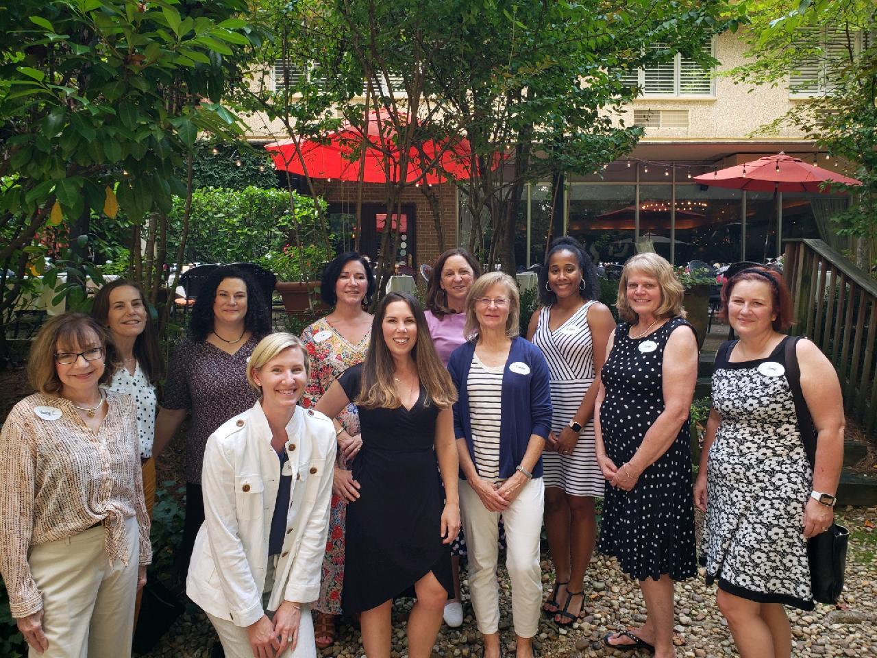 Our registered dietitians (left to right): Joy Holway, Johane Filemon,<br> Julie Newton, Briana Johnson, Rebecca Casey, Suzan <br>Jackovatz, Jamie Borghardt, and Nancy Lake.